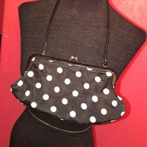 Small Black And White Polka Dot Party Purse